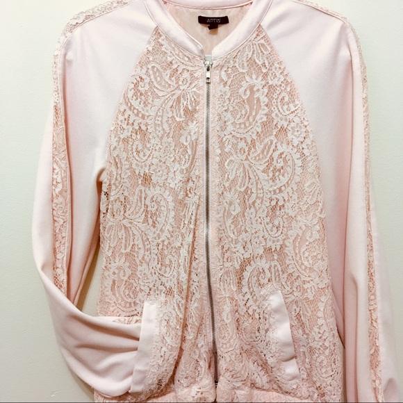d2267018c Apt. 9 Jackets & Coats   Apt 9 Soft Pink Lace Bomber Jacket W ...
